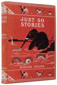"""""""Just-so stories"""" are named after Rudyard Kipling's 1902 book of animal fables. Image courtesy of Wikimedia Commons."""