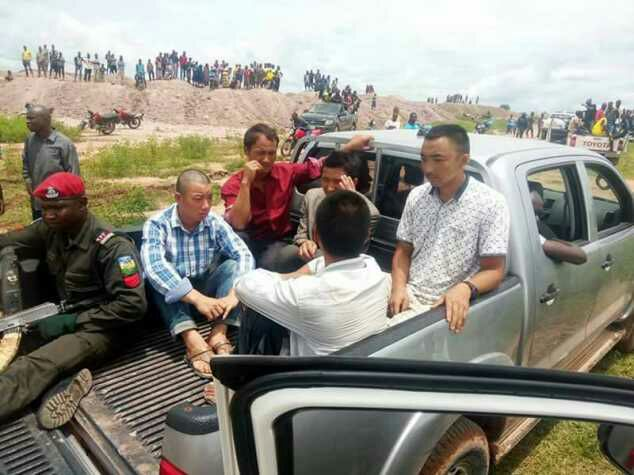 See HowTheIllegal Chinese Miners Were NabbedBySecurity MenInPlateau(Photos)